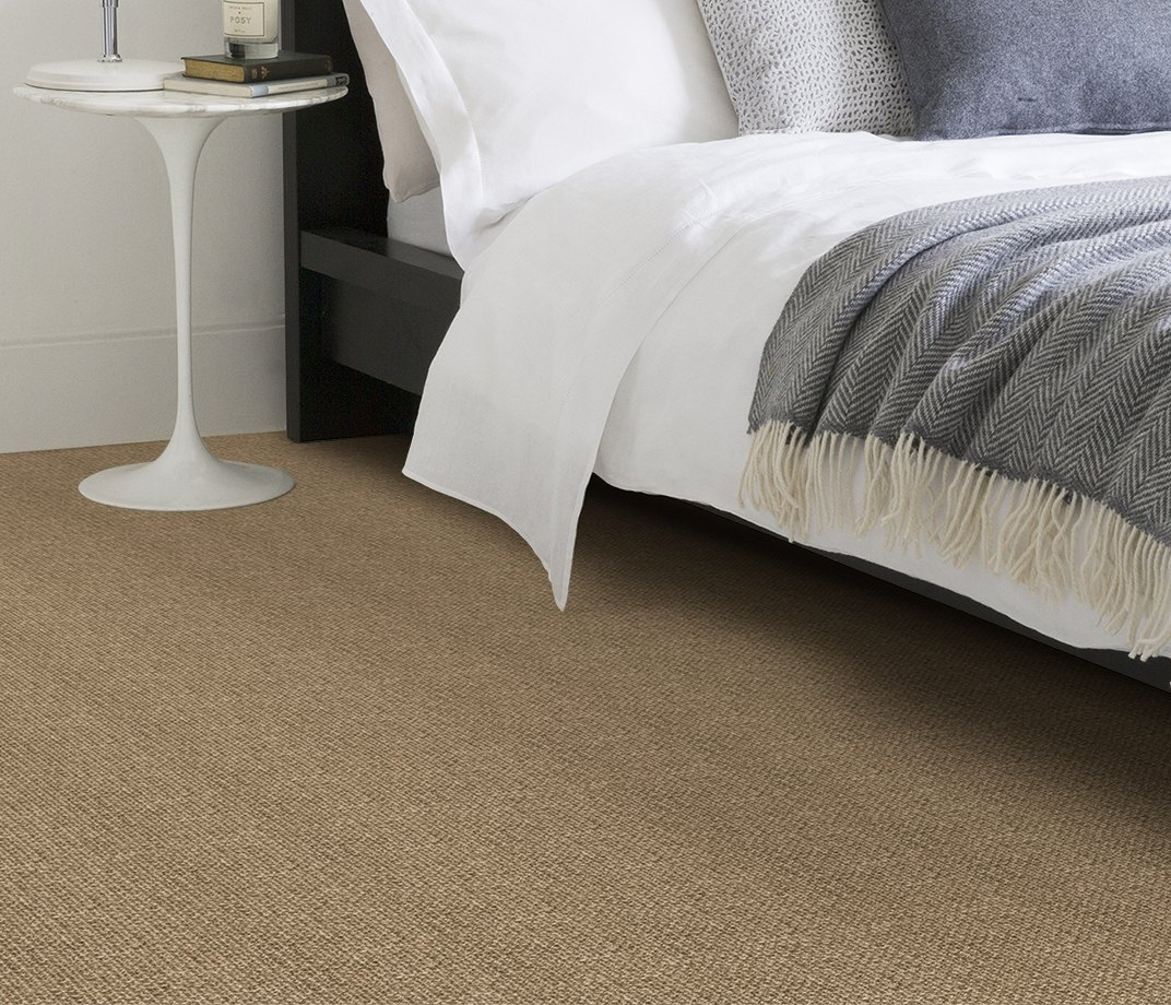 No Bother Sisal Super Bouclé Nether Wallop Carpet 1453 in Bedroom