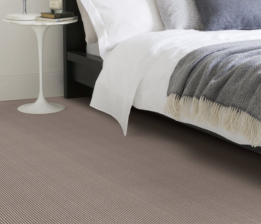 Wool Pinstripe Sable Olive Pin Carpet 1860 in Bedroom