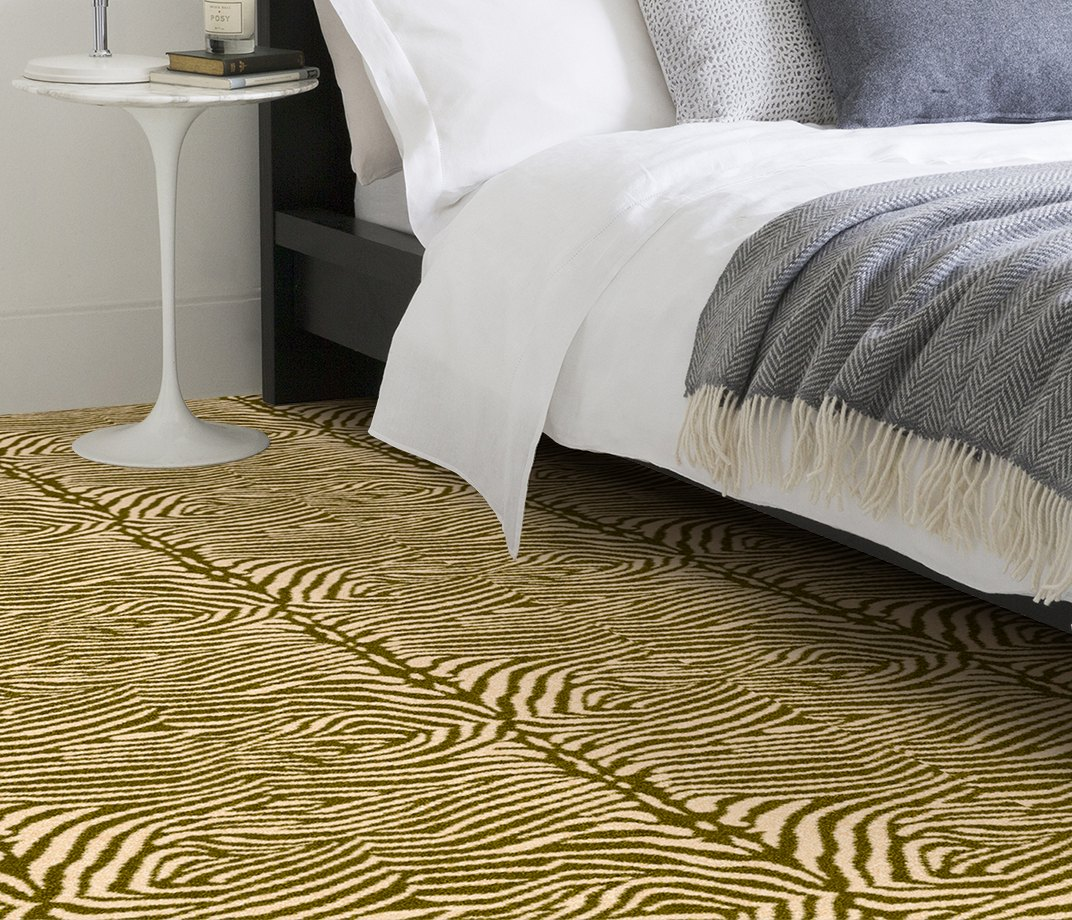 Quirky B Zebo Moss Carpet 7122 in Bedroom