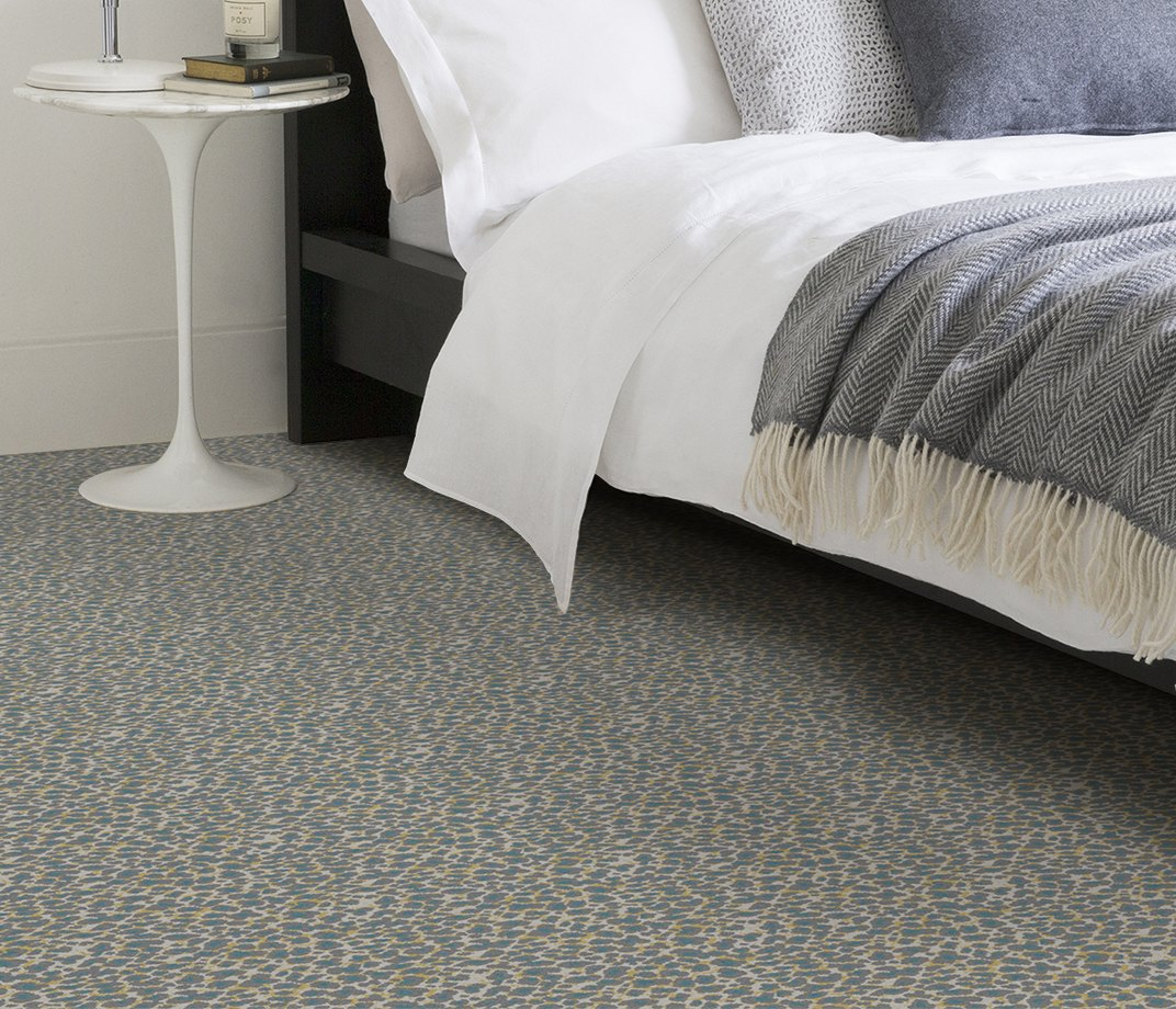 Quirky B Leopard Snow Carpet 7126 in Bedroom