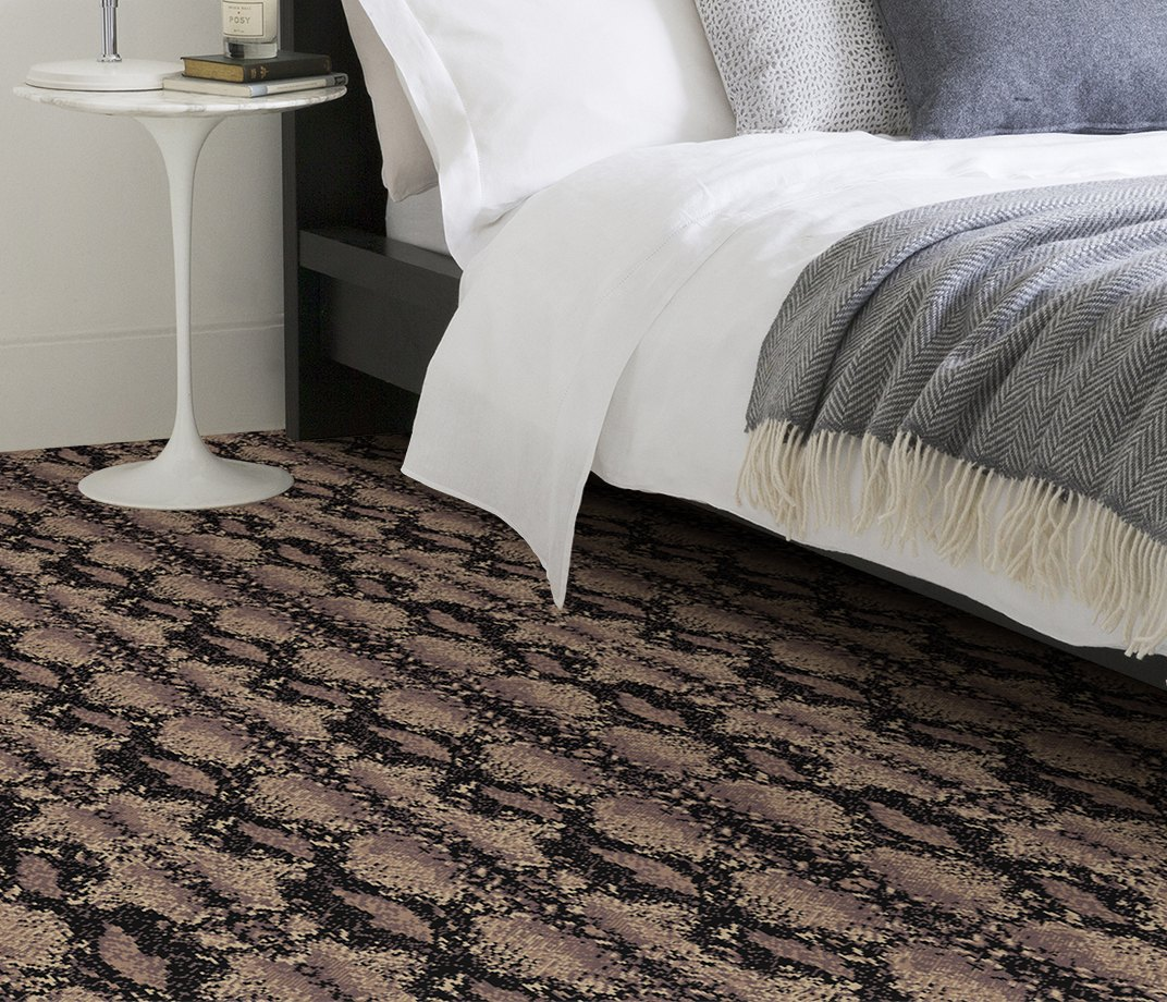 Quirky B Snake Python Carpet 7128 in Bedroom