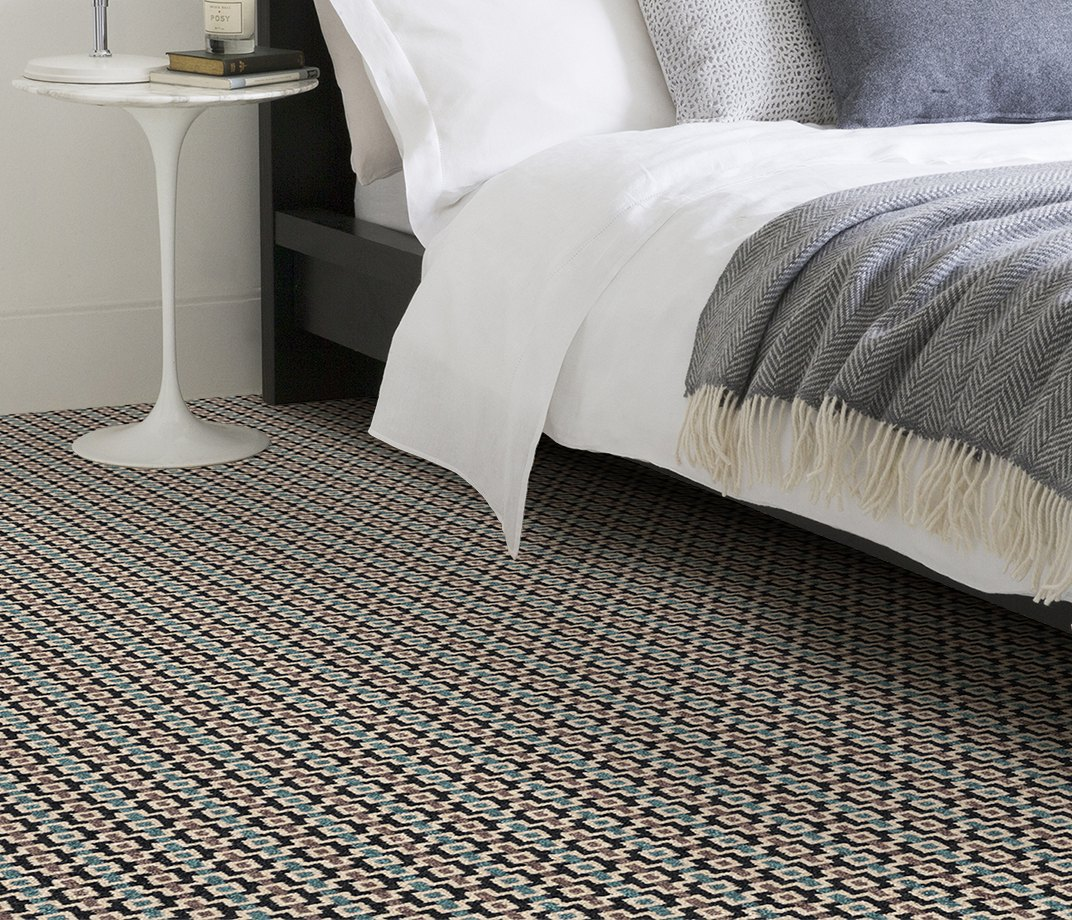 Quirky B Margo Selby Shuttle Silas Carpet 7201 in Bedroom