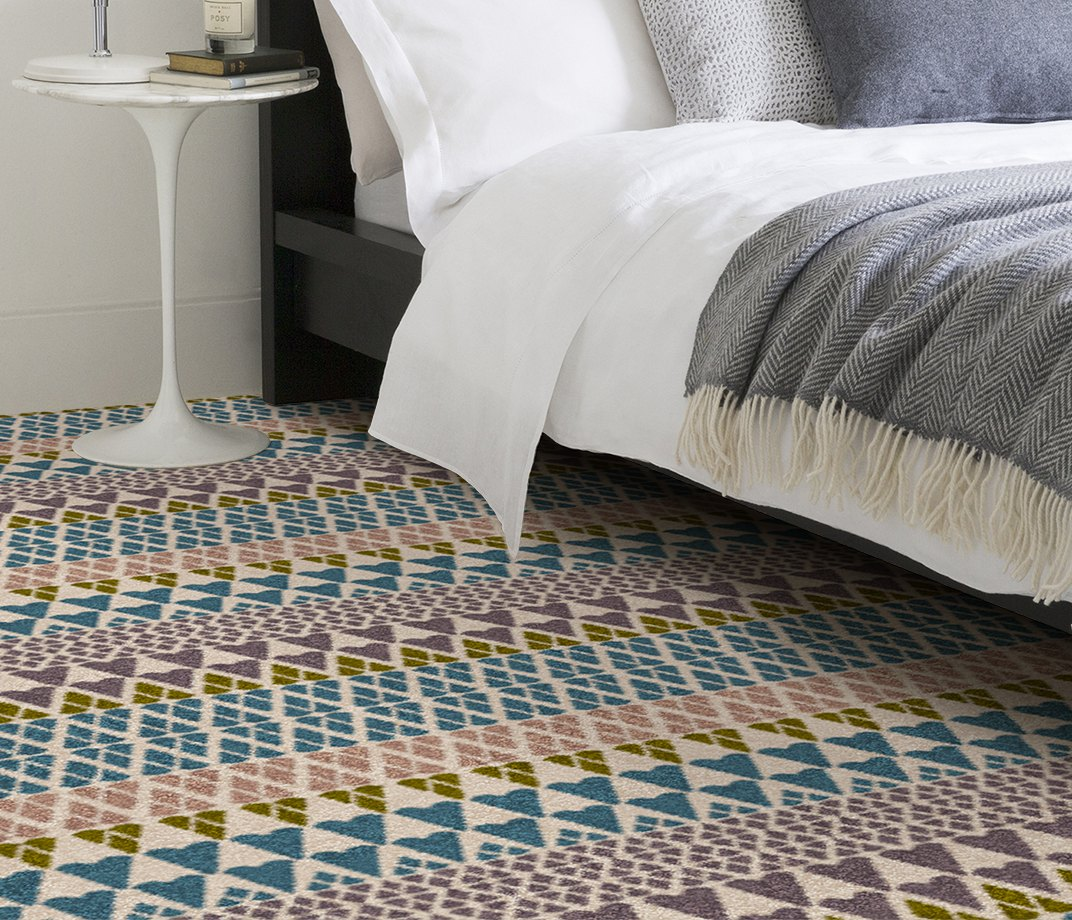 Quirky B Margo Selby Fair Isle Annie Carpet 7210 in Bedroom