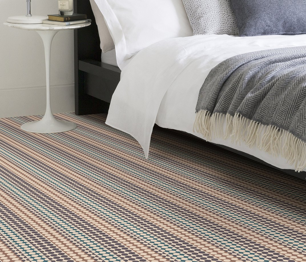Quirky B Margo Selby Button Grey Carpet 7214 in Bedroom