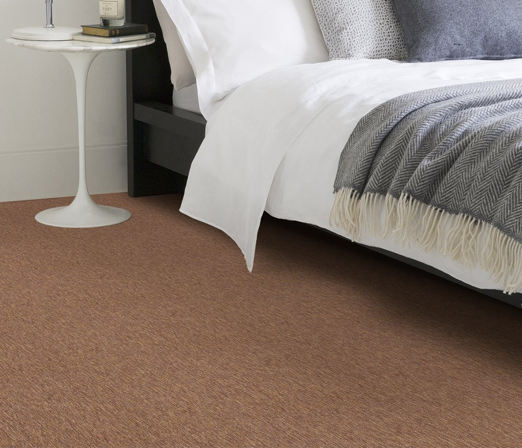 Anywhere Bouclé Copper Carpet 8001 in Bedroom