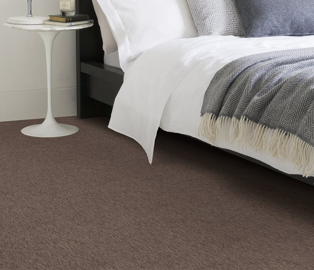 Anywhere Bouclé Cocoa Carpet 8002 in Bedroom