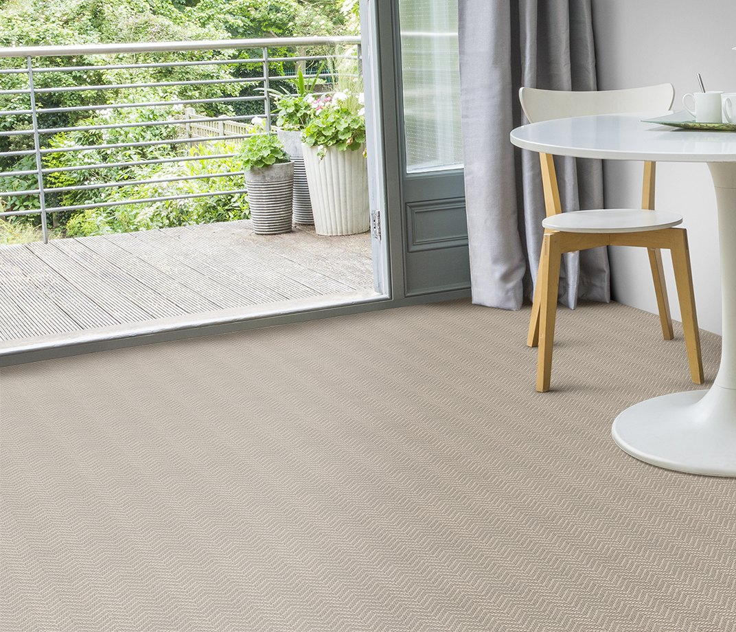 Wool Iconic Chevron Forth Carpet 1536 in Living Room