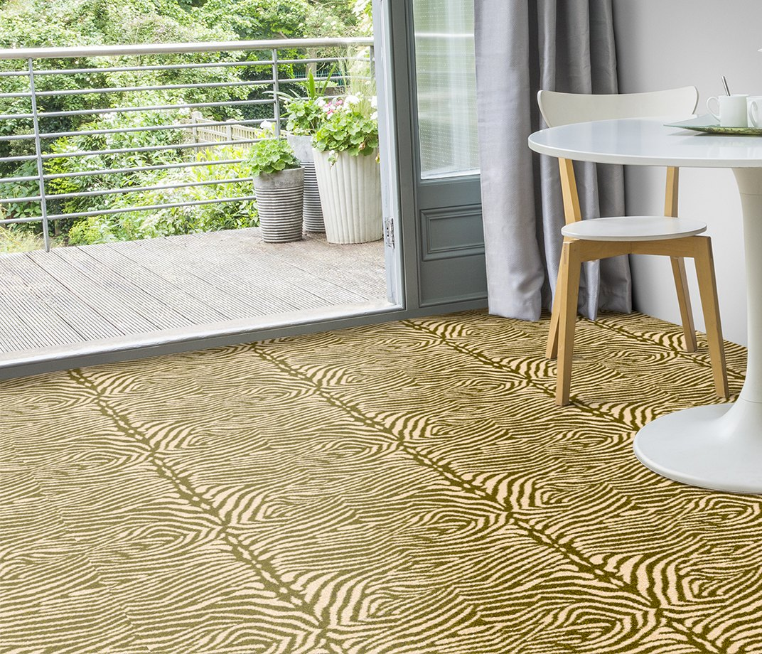 Quirky B Zebo Moss Carpet 7122 in Living Room