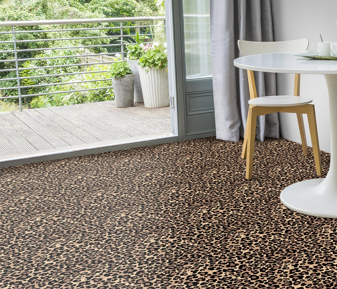 Quirky B Leopard Java Carpet 7125 in Living Room