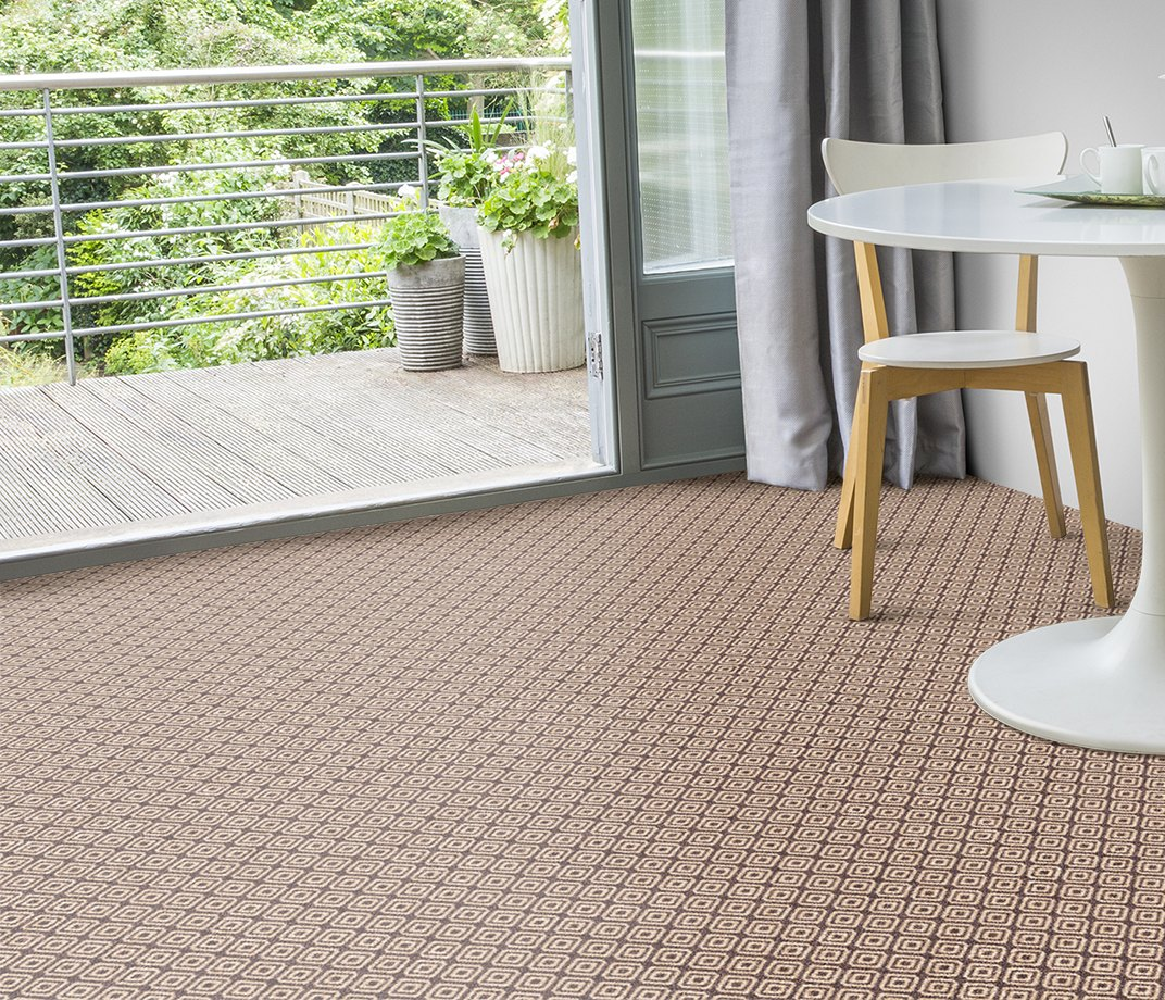 Quirky B Geo Grey Carpet 7133 in Living Room