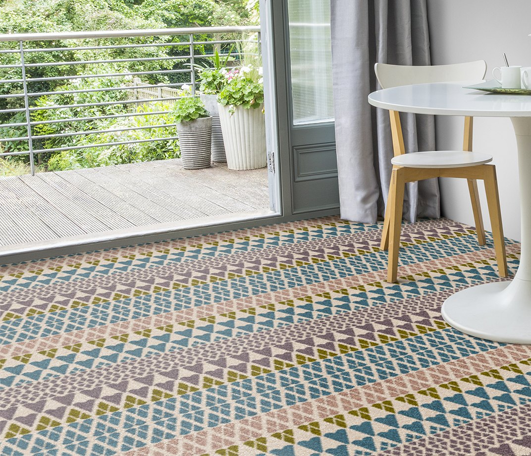 Quirky B Margo Selby Fair Isle Annie Carpet 7210 in Living Room