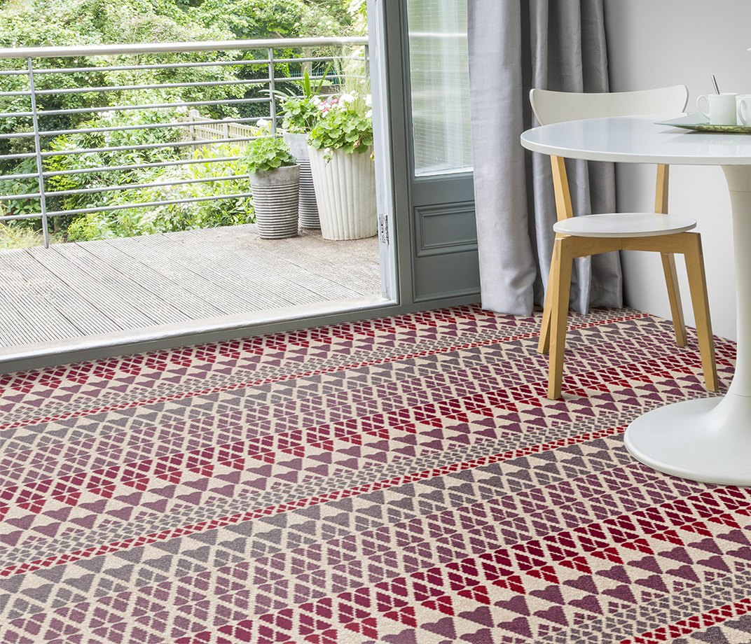 Quirky B Margo Selby Fair Isle Reiko Carpet 7212 in Living Room
