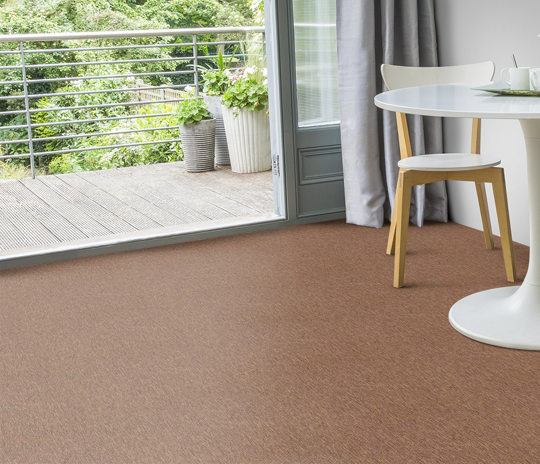 Anywhere Bouclé Copper Carpet 8001 in Living Room