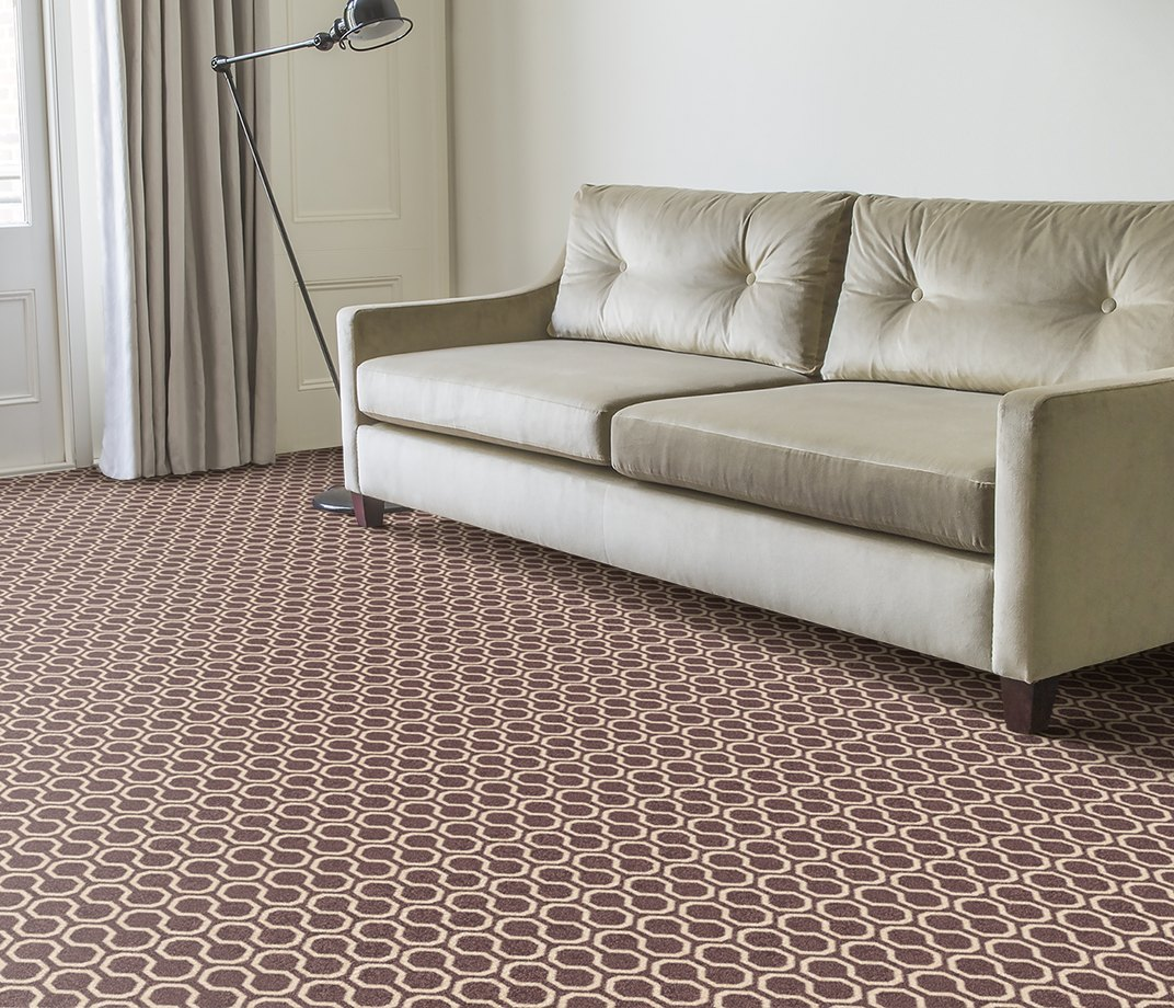 Quirky B Honeycomb Grey Carpet 7113 in Living Room