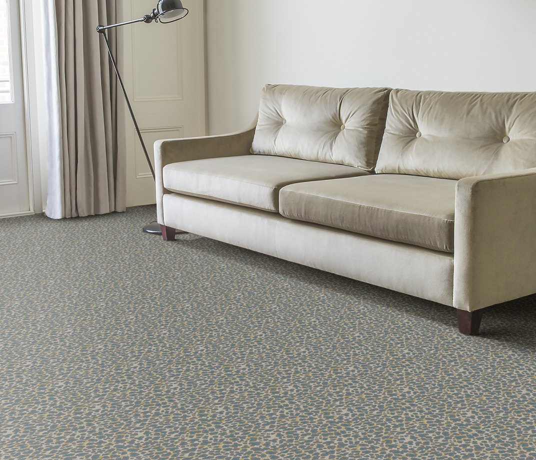 Quirky B Leopard Snow Carpet 7126 in Living Room