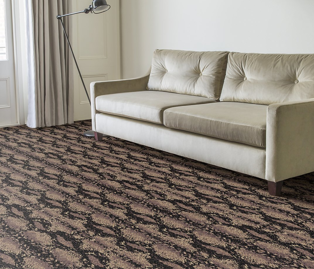 Quirky B Snake Python Carpet 7128 in Living Room