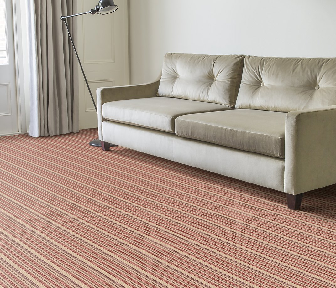 Quirky B Hot Herring Ruby Carpet 7138 in Living Room