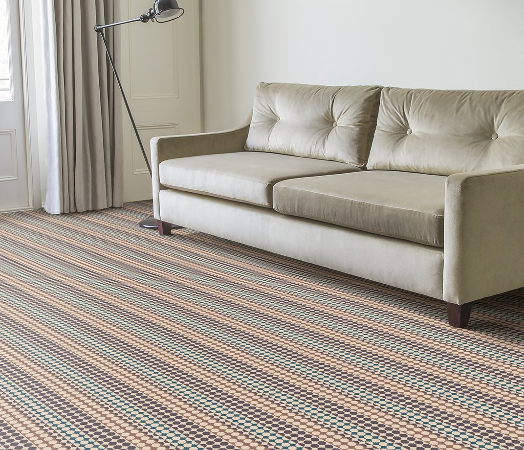 Quirky B Margo Selby Button Grey Carpet 7214 in Living Room