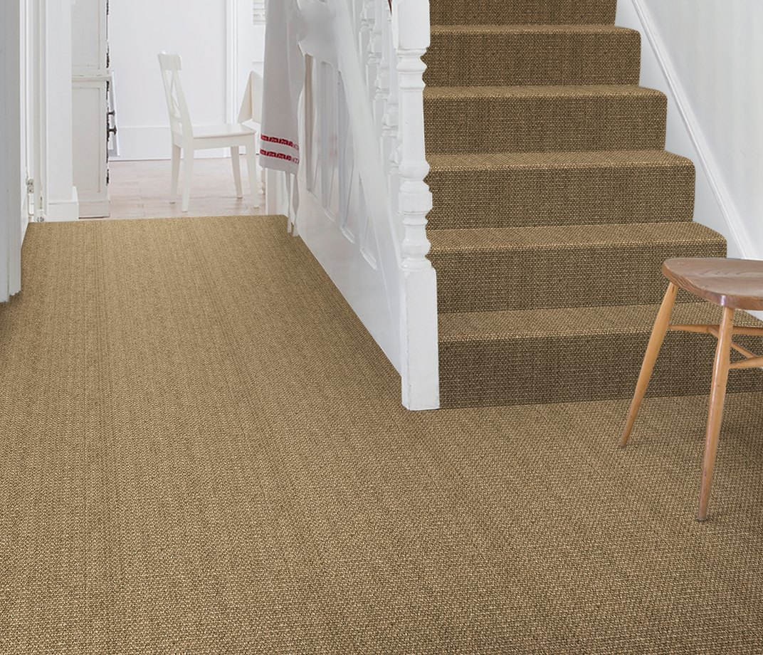 No Bother Sisal Bouclé Norleywood Carpet 1403 on Stairs