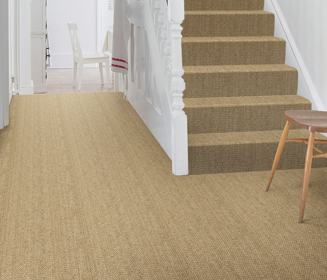 No Bother Sisal Super Bouclé Netherton Carpet 1450 on Stairs