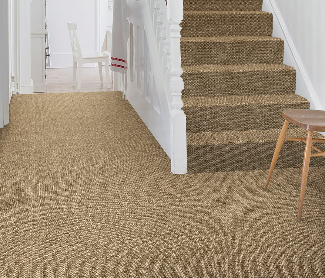 No Bother Sisal Super Bouclé Nether Wallop Carpet 1453 on Stairs