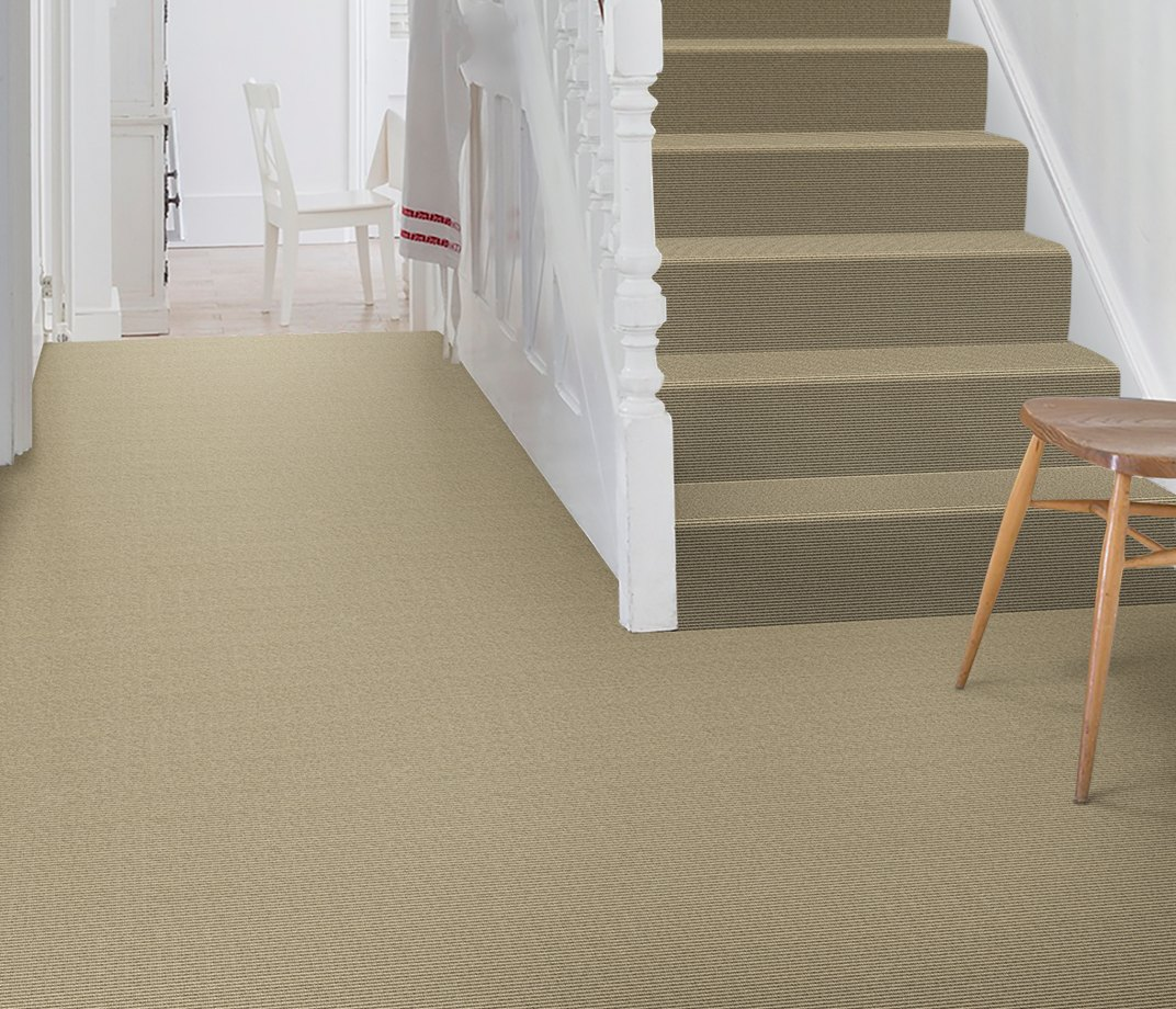 Wool Iconic Bouclé Garbo Carpet 1513 on Stairs