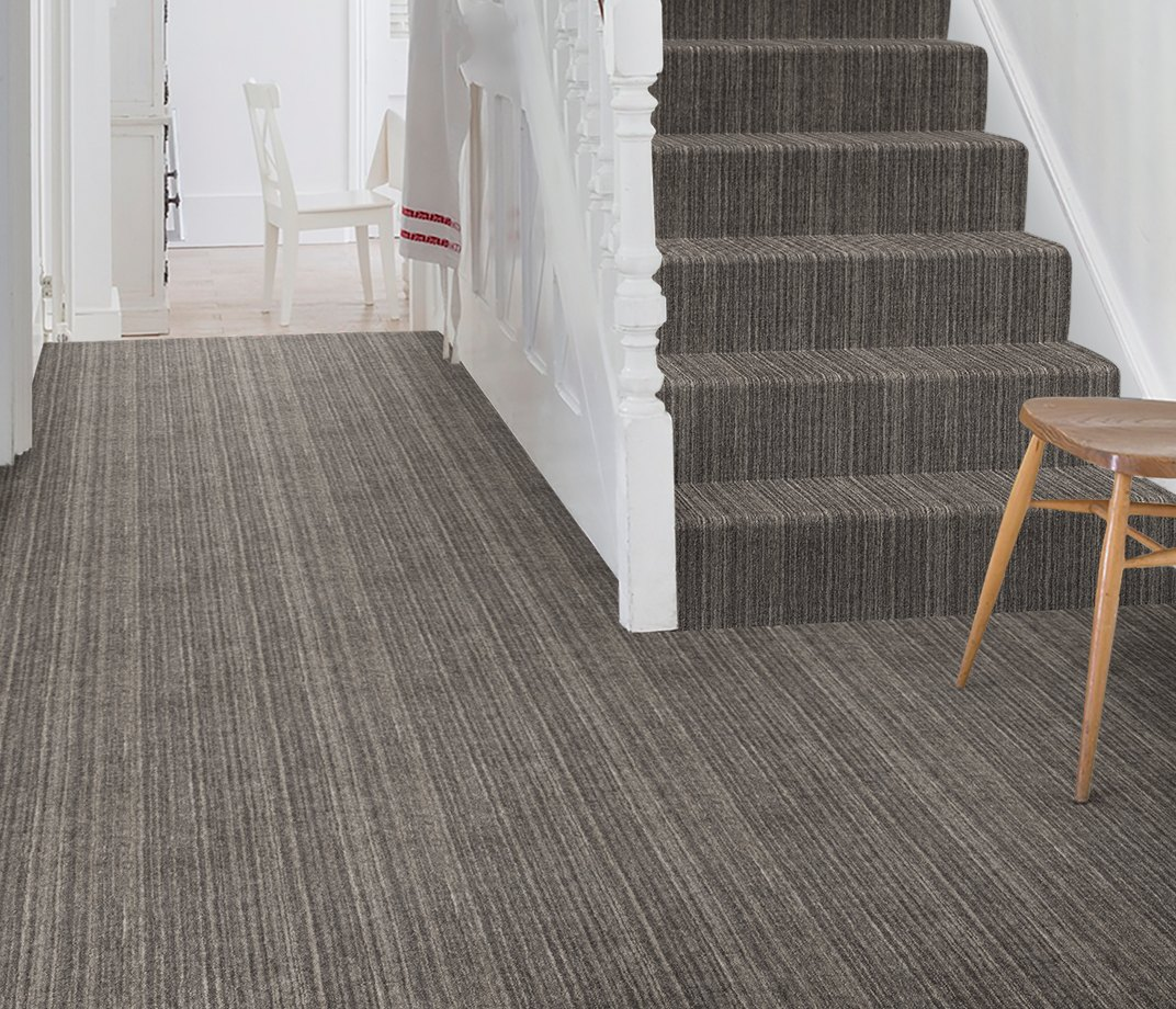 Barefoot Wool Marble Abu Carpet 5982 on Stairs