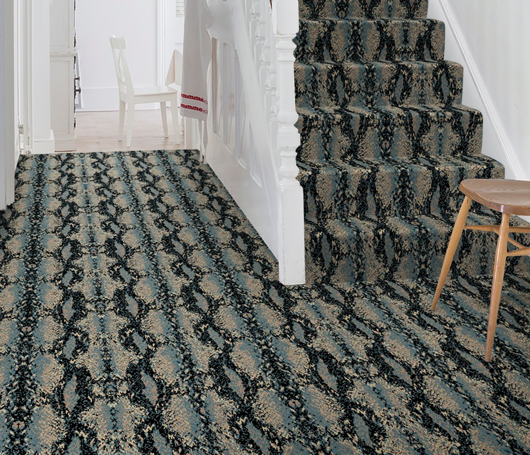 Quirky B Snake Mamba Carpet 7127 on Stairs