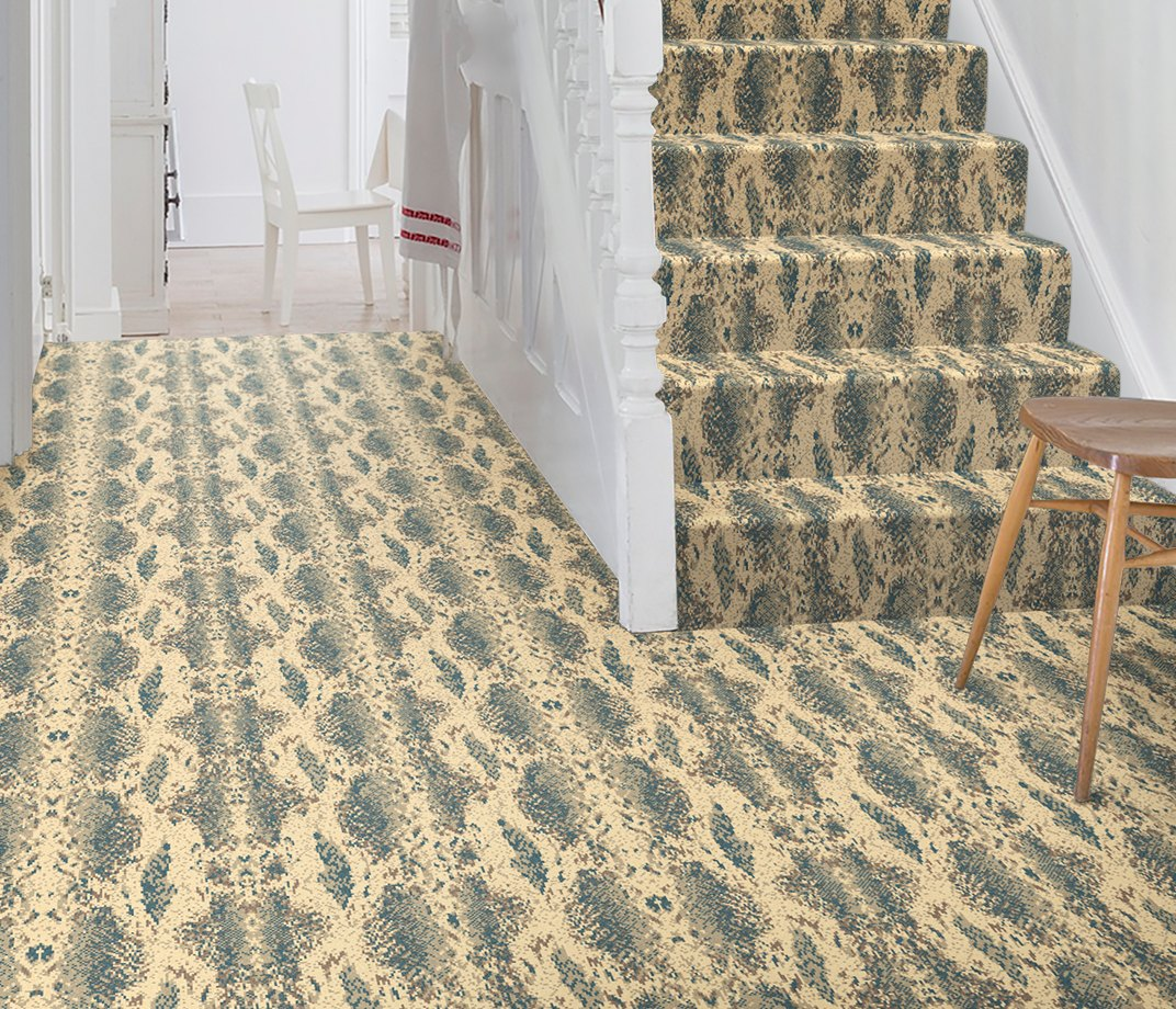 Quirky B Snake Boa Carpet 7129 on Stairs