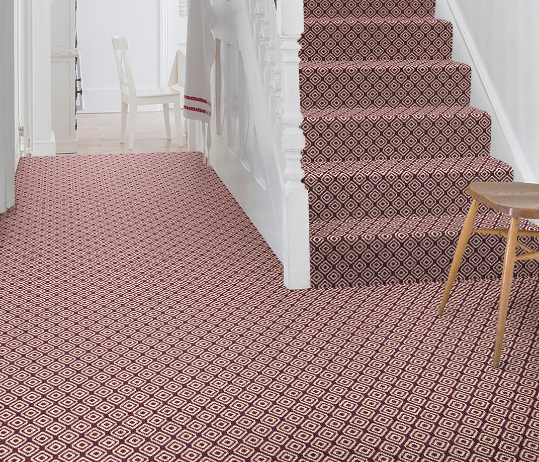 Quirky B Geo Damson Carpet 7132 on Stairs