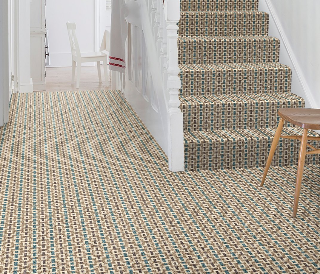 Quirky B Margo Selby Shuttle Jack Carpet 7200 on Stairs