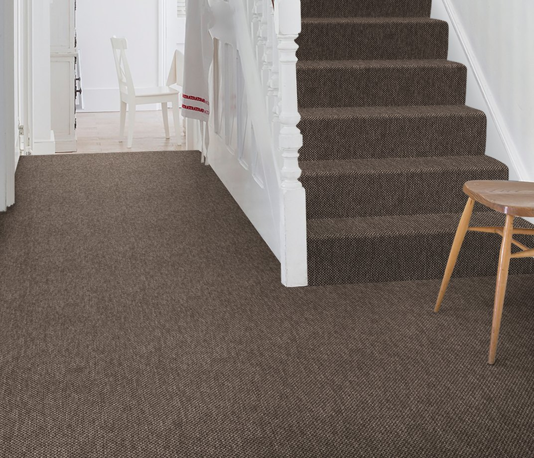 Anywhere Panama Cocoa Carpet 8022 on Stairs