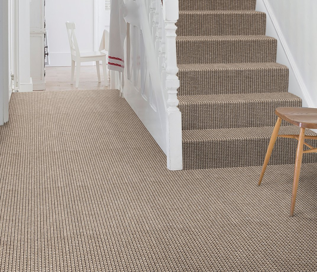 Anywhere Rope Limestone Carpet 8062 on Stairs