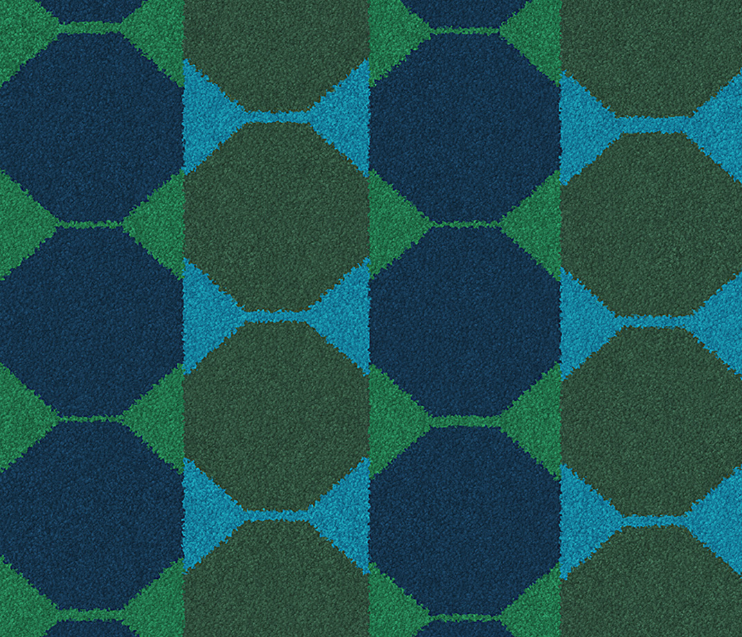 Lucienne Day Authentic Octagon Runner 7085 Swatch