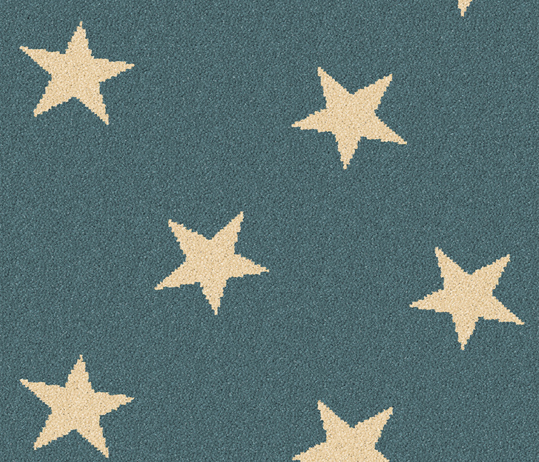 Quirky Stars Blue Sky Runner 7094 Swatch
