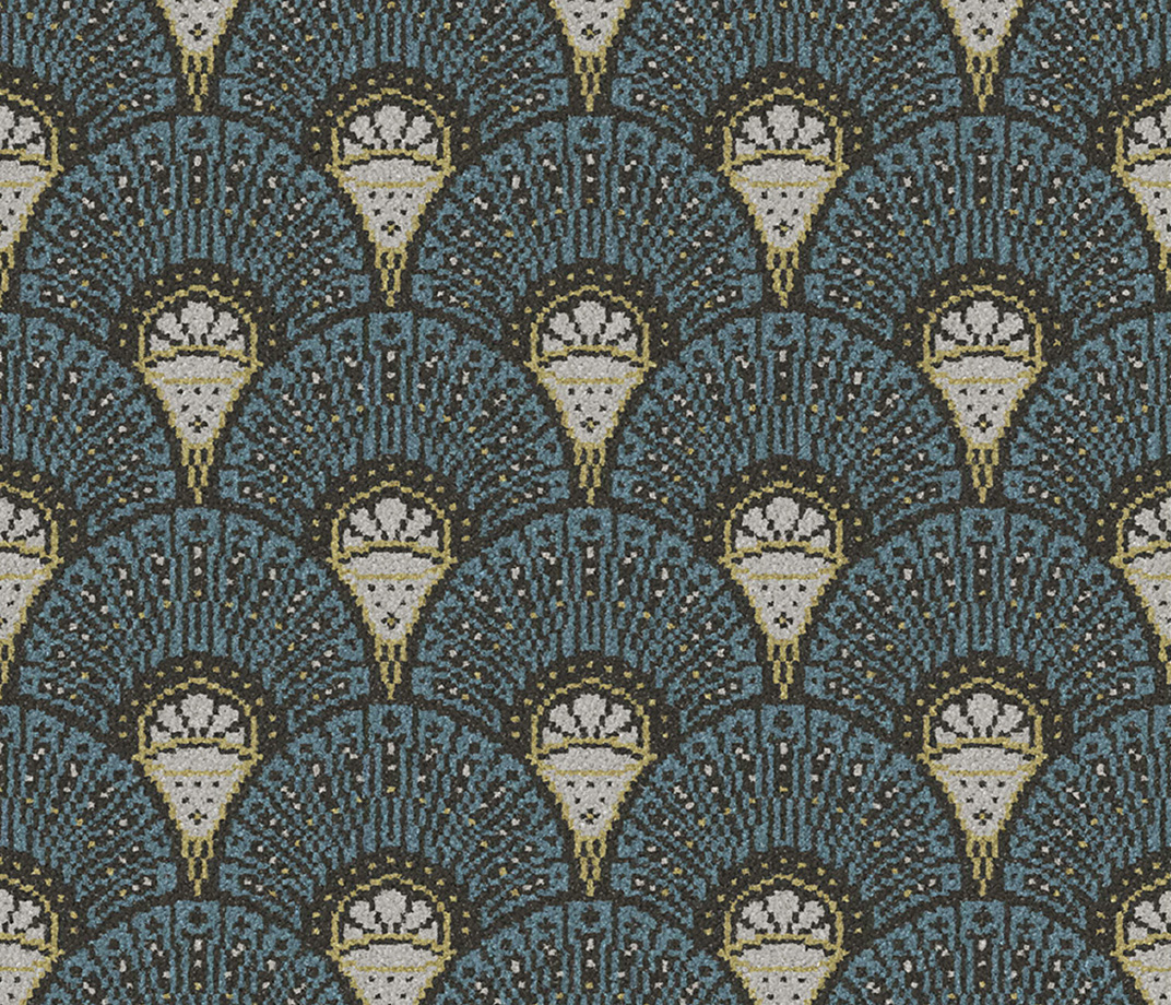 Quirky Deco Teal Runner by Divine Savages 7097 Swatch