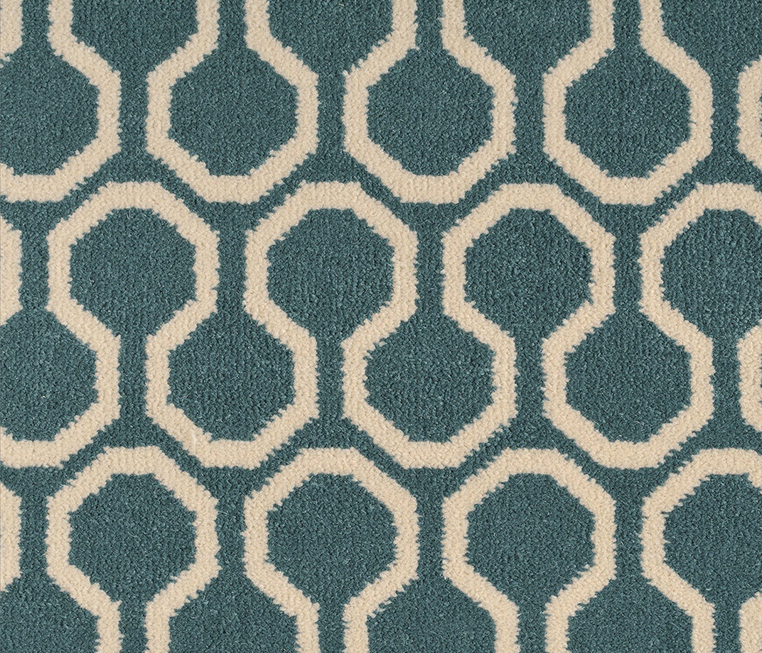 Quirky B Honeycomb Duck Egg Carpet 7110 Swatch
