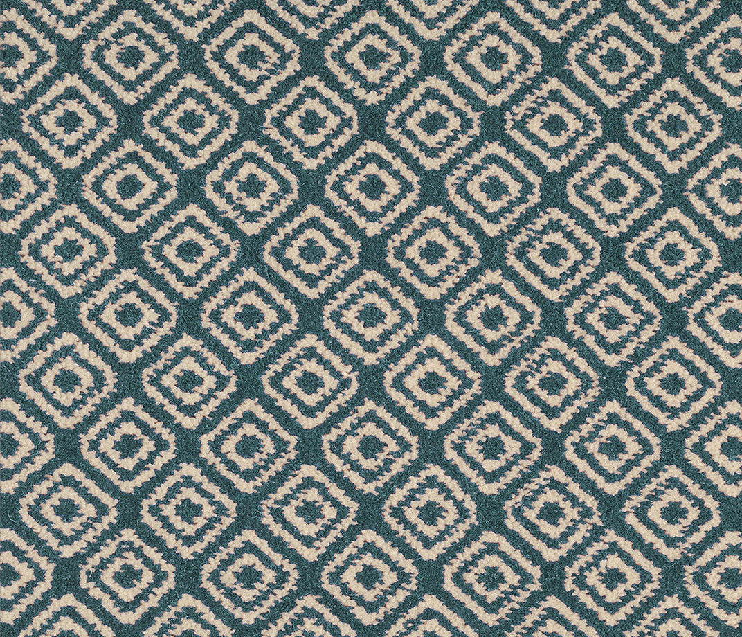 Quirky B Geo Duck Egg Carpet 7130 Swatch