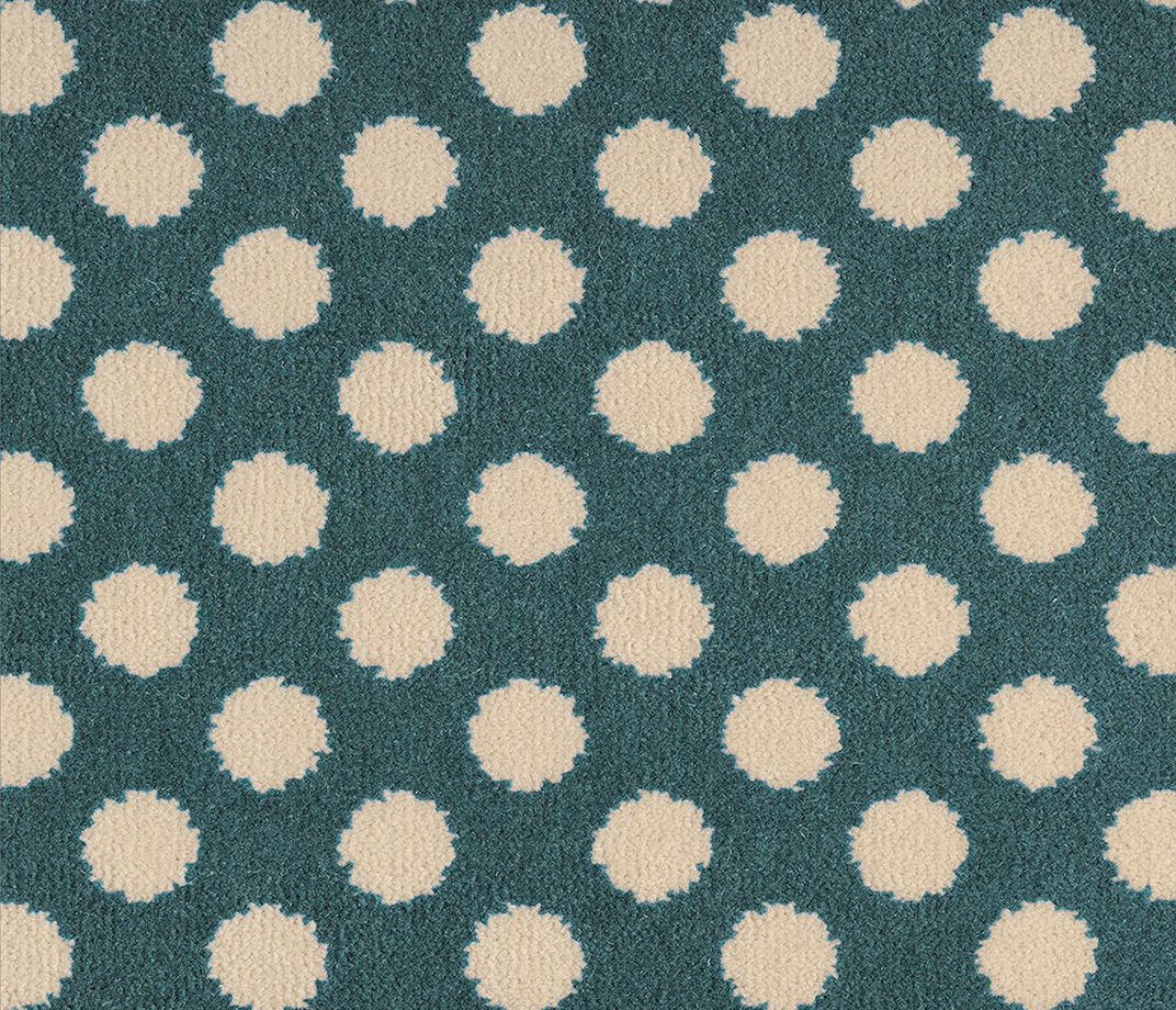 Quirky B Spotty Duck Egg Carpet 7142 Swatch