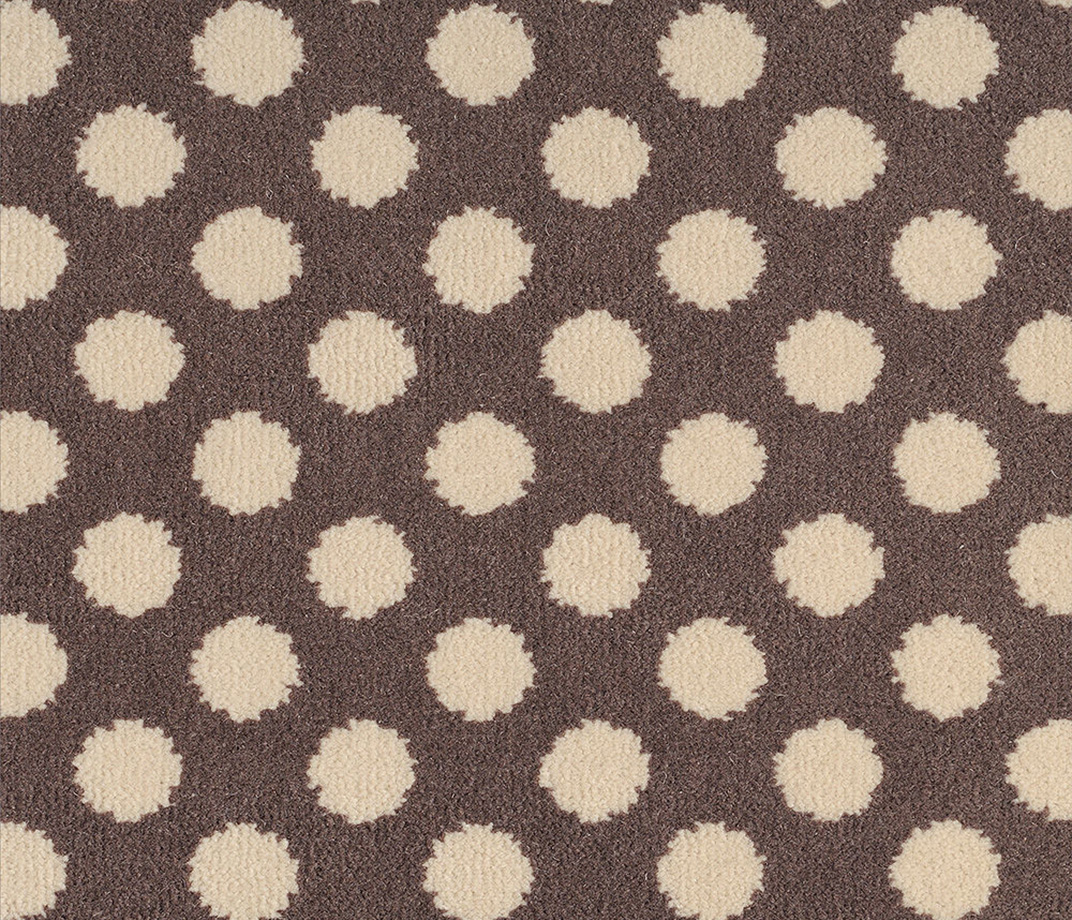 Quirky B Spotty Grey Patterned Carpet 7143 Swatch