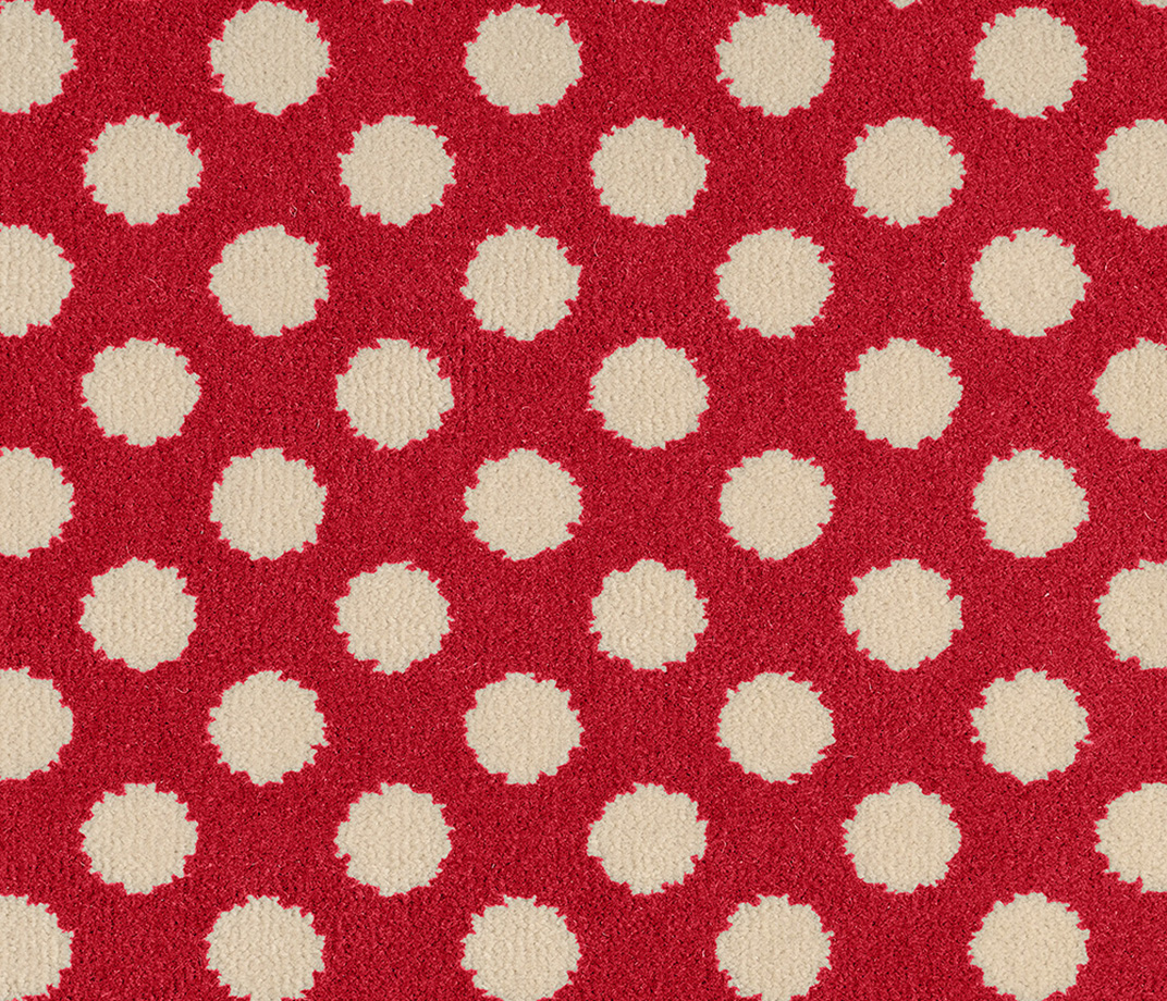 Quirky B Spotty Red Carpet 7144 Swatch