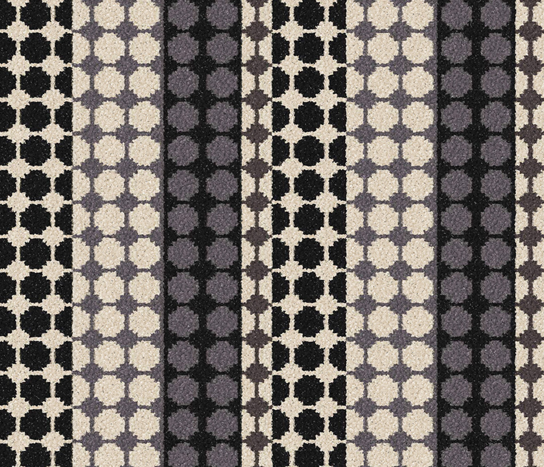 Quirky B Margo Selby Button Black Carpet 7215 Swatch