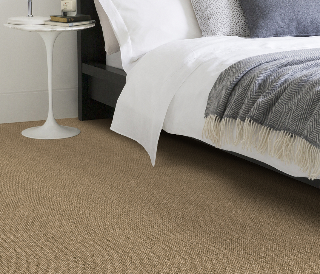 No Bother Sisal Super Bouclé Nether Wallop Carpet 1453 in Bedroom thumb