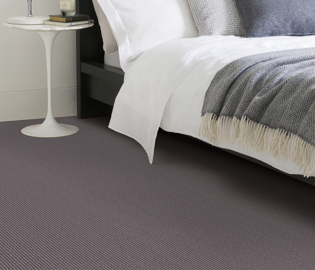Wool Pinstripe Mineral Sable Pin Carpet 1864 in Bedroom thumb