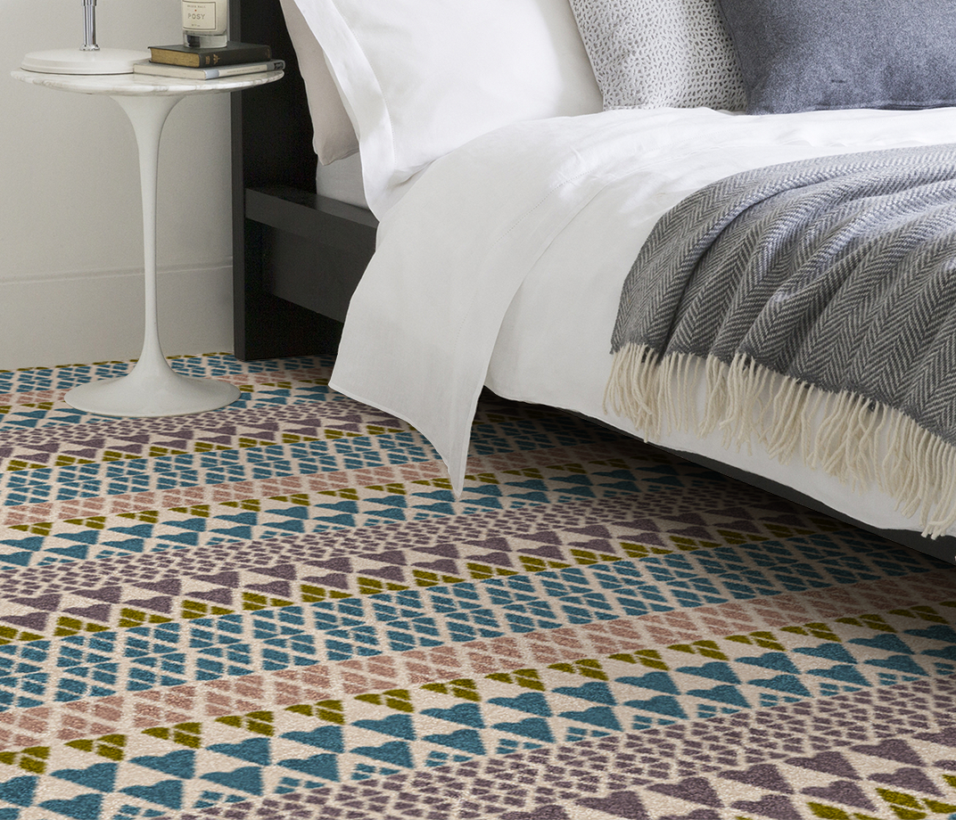 Quirky B Margo Selby Fair Isle Annie Carpet 7210 in Bedroom thumb