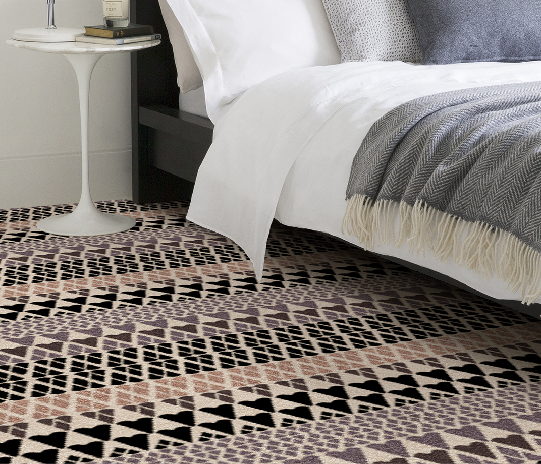 Quirky B Margo Selby Fair Isle Sutton Carpet 7211 in Bedroom thumb