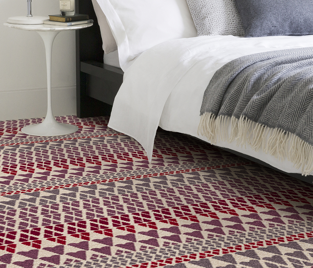 Quirky B Margo Selby Fair Isle Reiko Carpet 7212 in Bedroom thumb