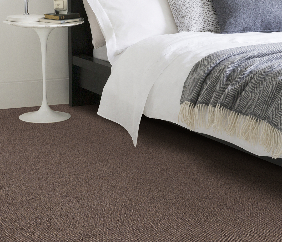 Anywhere Bouclé Cocoa Carpet 8002 in Bedroom thumb