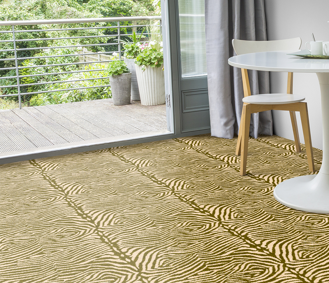 Quirky B Zebo Moss Carpet 7122 in Living Room thumb