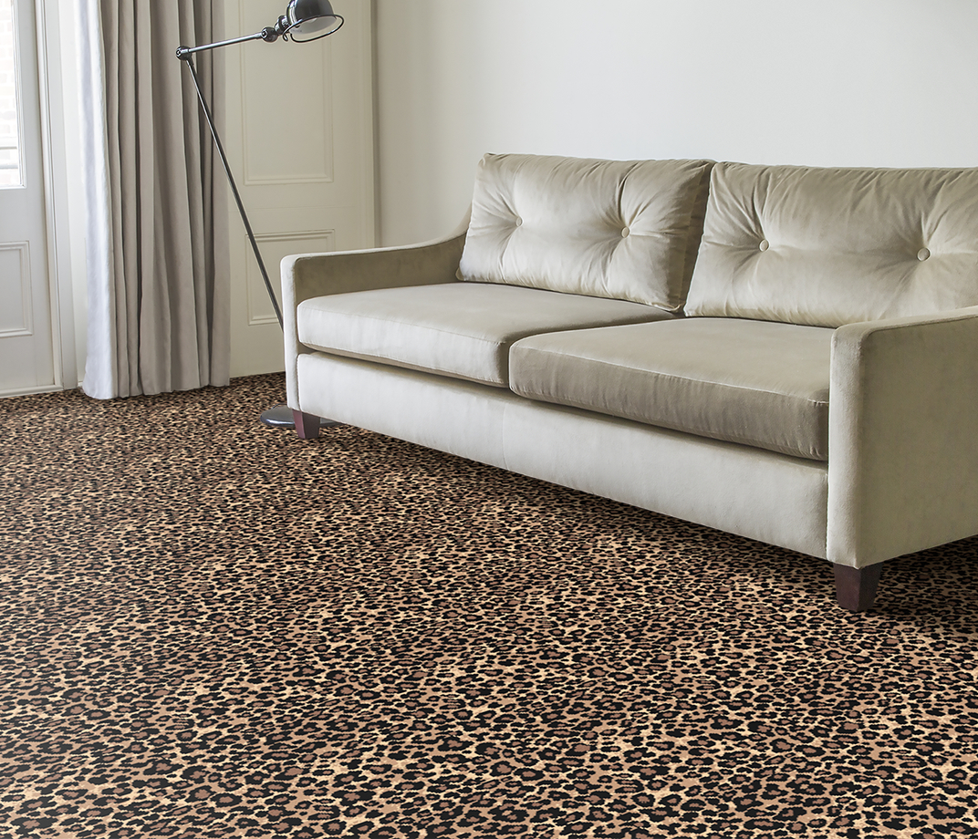 Quirky B Leopard Java Carpet 7125 in Living Room thumb